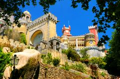 Pena National Palace. A view of the side of historic Pena National palace, Sintra, Portugal Royalty Free Stock Images