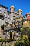Pena National Palace. Vertical view of the architecture of the Pena National Palace (Palacio Nacional da Pena) in Sintra, Portugal Stock Photos