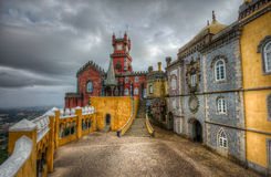 Pena National Palace - arches yard Stock Images