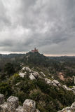 Pena National Palace in the municipality of Sintra Royalty Free Stock Images