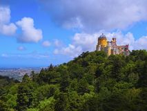 Pena National Palace and Park in Sintra Royalty Free Stock Image