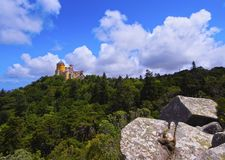 Pena National Palace and Park in Sintra Stock Images