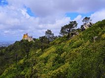 Pena National Palace and Park in Sintra Stock Image