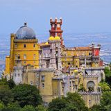 Pena National Palace and Park in Sintra Royalty Free Stock Photo