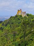 Pena National Palace and Park in Sintra Royalty Free Stock Photos
