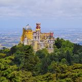 Pena National Palace and Park in Sintra. Palacio Nacional de Pena - Pena National Palace in Sintra, Portugal Stock Photo