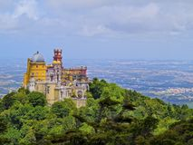 Pena National Palace and Park in Sintra Stock Photos