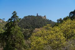 Pena National Palace. The Pena National Palace is a Romanticist palace in Sao Pedro de Penaferrim, Sintra, Portugal Royalty Free Stock Image