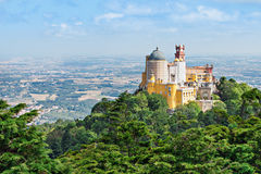 Pena National Palace. The Pena National Palace is a Romanticist palace in Sao Pedro de Penaferrim, Sintra, Portugal Royalty Free Stock Photo