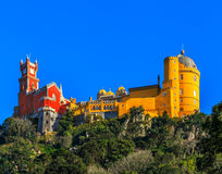 Pena National Palace,  Sintra, Lisbon, Portugal. Pena National Palace, famous landmark. Sintra  Lisbon  Portugal Europe Royalty Free Stock Image