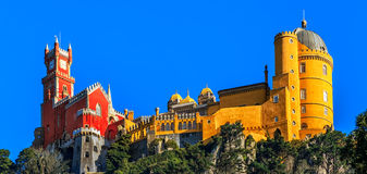 Pena National Palace,  Sintra, Lisbon, Portugal. Pena National Palace, famous landmark. Sintra Lisbon Portugal Europe Royalty Free Stock Photography