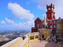 Pena National Palace in Sintra Royalty Free Stock Images