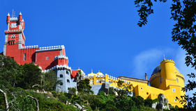 The Pena National Palace in Sintra Royalty Free Stock Photos