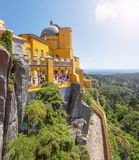 Pena National Palace in Sintra. Portugal royalty free stock photography