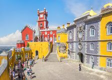 Pena National Palace in Sintra. Portugal stock images