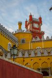Pena National Palace in Sintra, Portugal (Palacio Nacional da Pena. Sintra, Portugal - November 21 2014: Pena National Palace in Sintra, Portugal (Palacio stock images