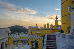 Pena National Palace in Sintra, Portugal (Palacio Nacional da Pena. Sintra, Portugal - November 21 2014: Pena National Palace in Sintra, Portugal (Palacio stock photo
