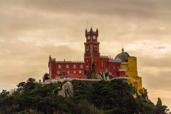 Pena National Palace in Sintra, Portugal & x28;Palacio Nacional da Pe. Na& x29 stock photos
