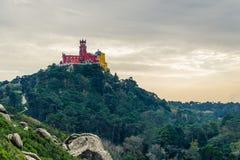 Pena National Palace in Sintra, Portugal & x28;Palacio Nacional da Pe. Na& x29 stock photography