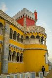 Pena National Palace in Sintra, Portugal (Palacio Nacional da Pe. Sintra, Portugal - November 21 2014: Pena National Palace in Sintra, Portugal (Palacio Nacional royalty free stock photo