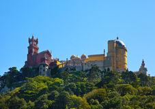 Pena National Palace in Sintra, Portugal (Palacio Nacional da Pe Royalty Free Stock Photos