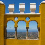 The Pena National Palace in Sintra, Portugal. Stock Photos