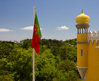 The Pena National Palace in Sintra, Portugal. Royalty Free Stock Photos