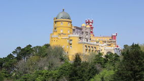 Pena National Palace in Sintra, Portugal stock video footage