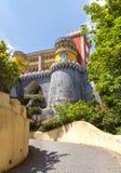 Pena nationaler Palast in Sintra portugal stockbilder