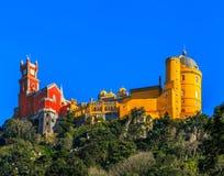 Pena nationell slott, Sintra, Lissabon, Portugal Royaltyfri Bild