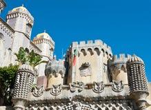 Pena nationell slott, Sintra, Portugal Arkivfoto