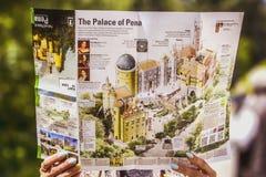 Pena pałac mapa obrazy royalty free
