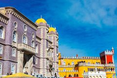 Pena pałac jest Romanticist kasztelem w Sintra, Portugal Obraz Stock