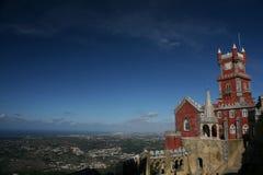 Pena palace. Pena royal palace at Sintra, Portugal Stock Photos