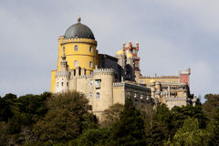 Pena Palace. Beautiful view of the Pena Palace located in Sintra National Park on Lisbon, Portugal Stock Photos