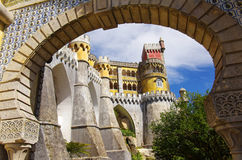 Pena Palace. View of the Pena Palace in Sintra National Park, Portugal Royalty Free Stock Photos