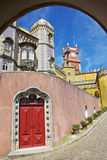 Pena Palace. View of the Pena Palace in Sintra National Park, Portugal Royalty Free Stock Images