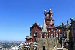 Pena Palace. The famous Pena palace in Sintra, Portugal stock image