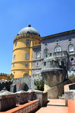 Pena Palace. The famous Pena palace in Sintra, Portugal stock images