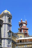 Pena Palace. The famous Pena palace in Sintra, Portugal royalty free stock image