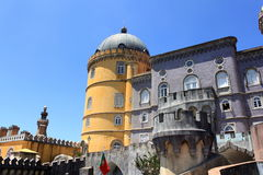 Pena Palace. The famous Pena palace in Sintra, Portugal royalty free stock photo