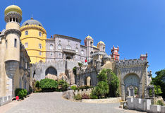 Pena Palace. National Palace of Pena (Sintra) is one of the seven wonders of Portugal Stock Image