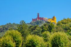 Pena Palace aerial Royalty Free Stock Images