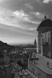 Pena palace black and white. Pena royal palace at Sintra, Portugal Stock Image