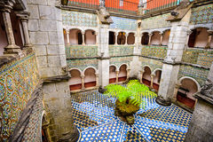 Pena Palace Courtyard Stock Images