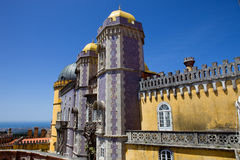 Pena palace. Detail of Pena palace, in the village of Sintra, Lisbon, Portugal Royalty Free Stock Images