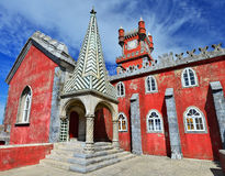 Pena Palace (Palacio da Pina) Sintra in Portugal royalty free stock images