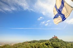 Pena Palace panoramic view Royalty Free Stock Photography