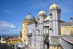 Pena Palace. Picturesque Pena Palace in Lisbon, Portugal Royalty Free Stock Photo