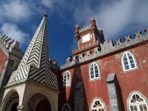 Pena palace in Portugal Royalty Free Stock Photography
